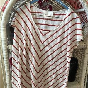 Red and white Vince camuto shirt